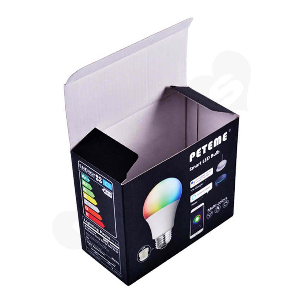 Snap Lock Bottom Box For Smart LED Bulb Side View Five
