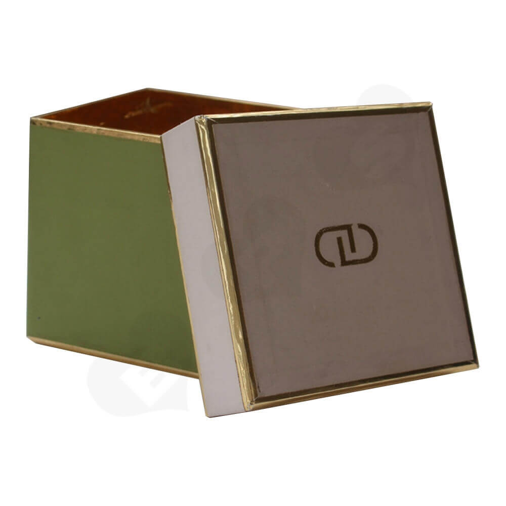 Specialty Paper Made Coffee Mug Box Side View Two