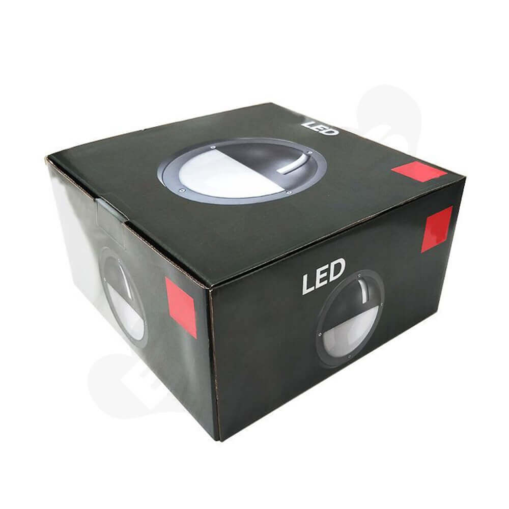 Tuck Top Carton Box For LED Lamp Side View Four
