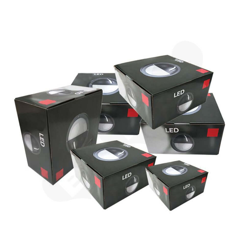 Tuck Top Carton Box For LED Lamp Side View One