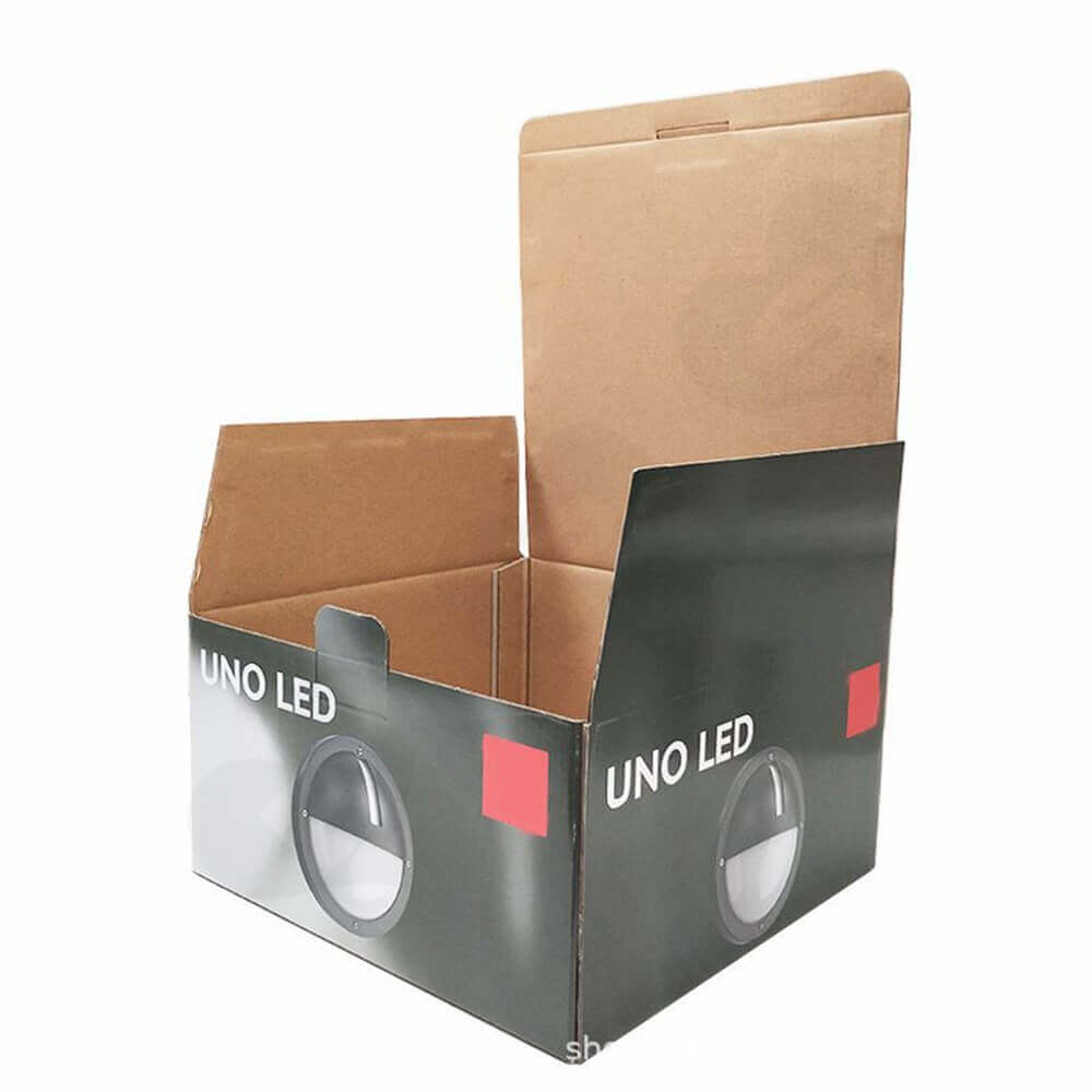Tuck Top Carton Box For LED Lamp Side View Two