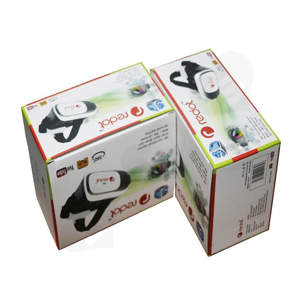 360 Degree VR Googles Packaging Box Customizable Side View Four