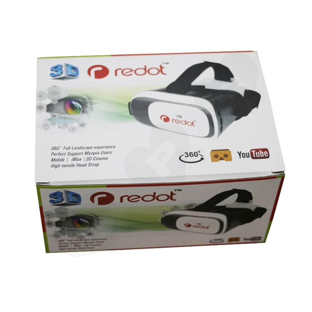 360 Degree VR Googles Packaging Box Customizable Side View One