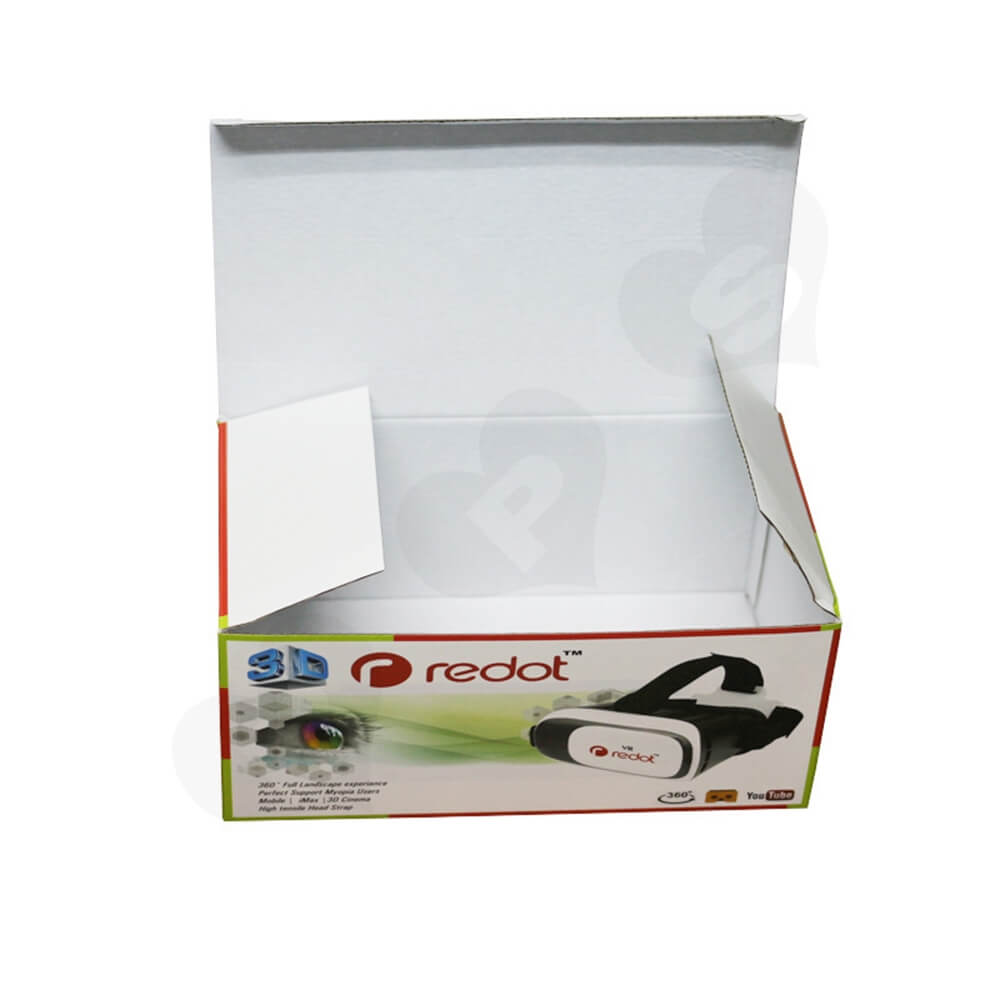 360 Degree VR Googles Packaging Box Customizable Side View Three