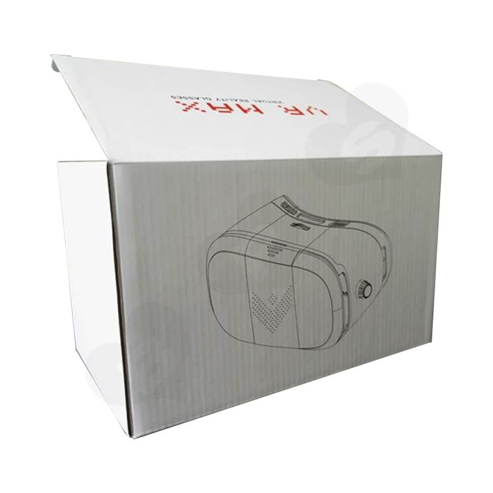 Custom Corrugated Folding Box For VR Headset Side View Five