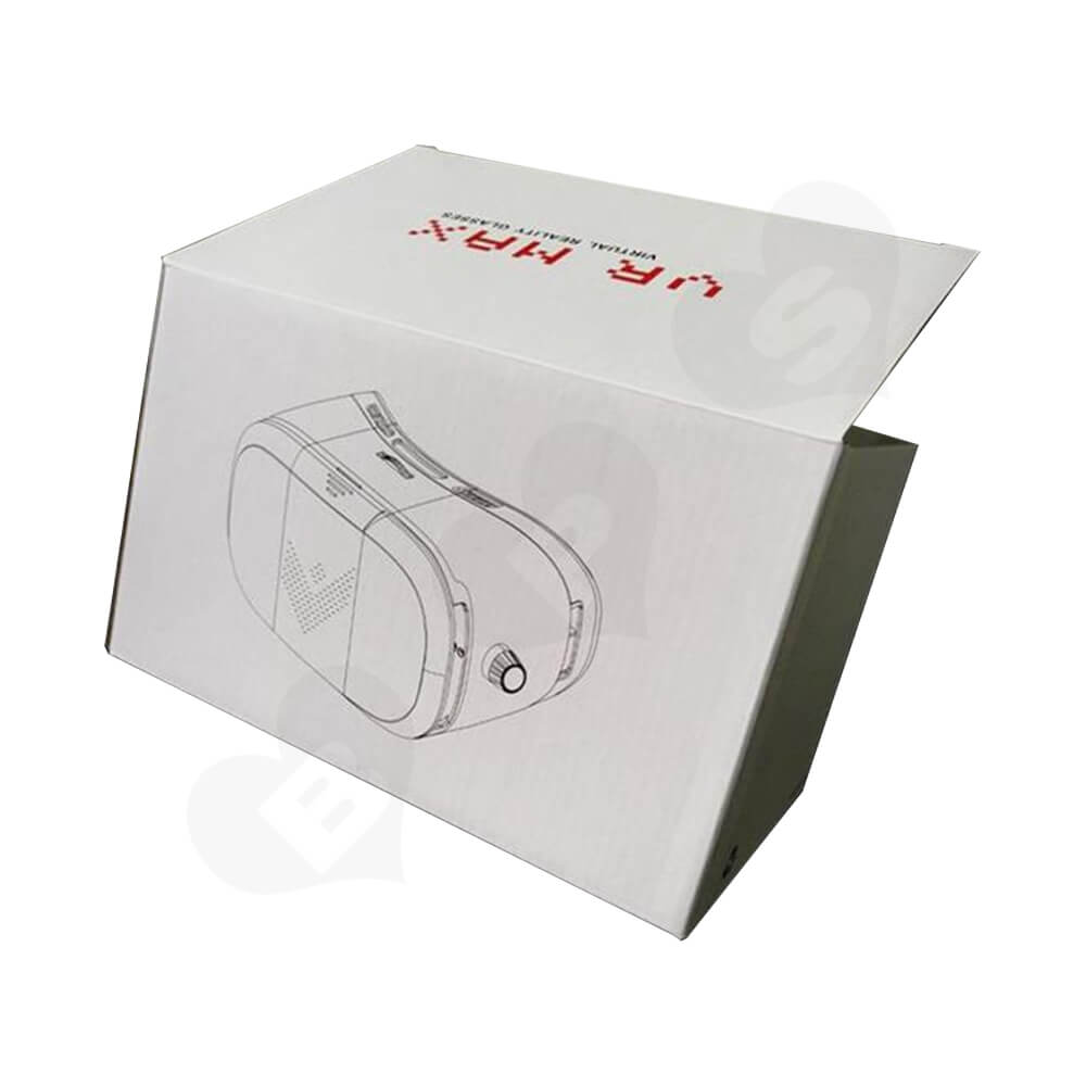 Custom Corrugated Folding Box For VR Headset Side View Four