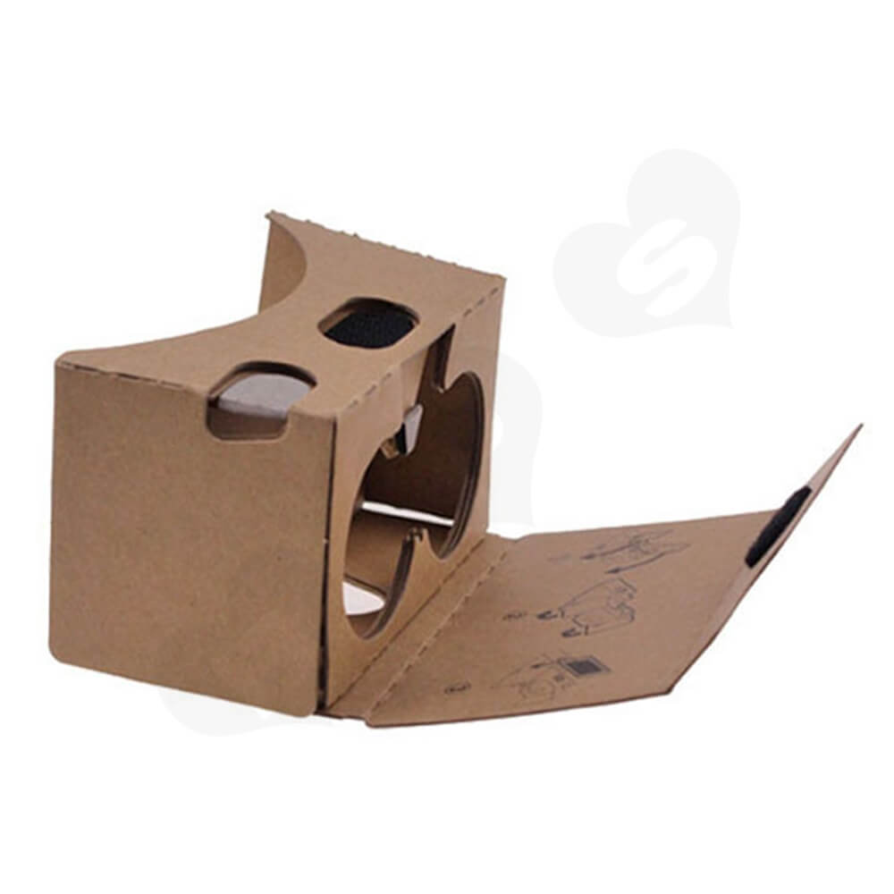 Custom Printed Cardboard Goggles Side View Five