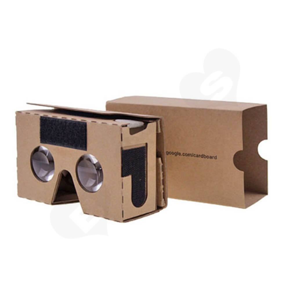 Custom Printed Cardboard Goggles Side View One