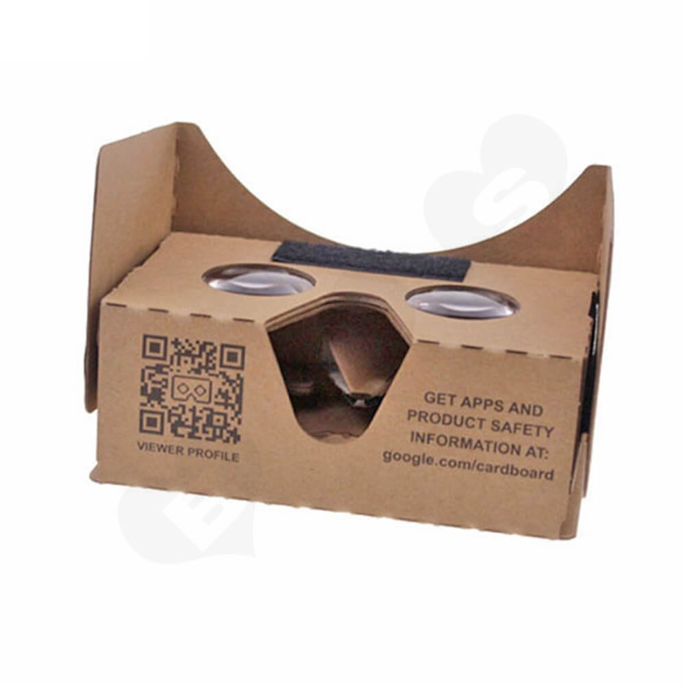 Custom Printed Cardboard Goggles Side View Two