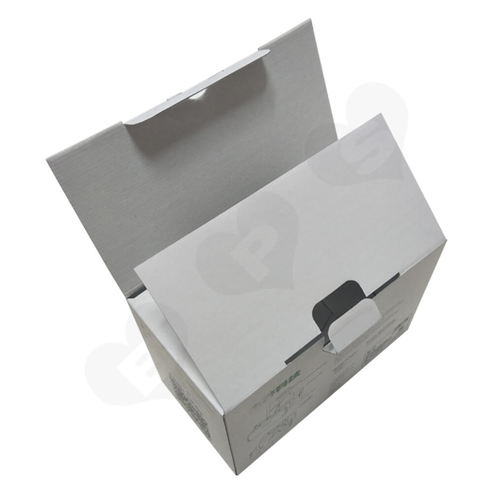 White Cardboard Box With Printing For VR Goggle Side View Five