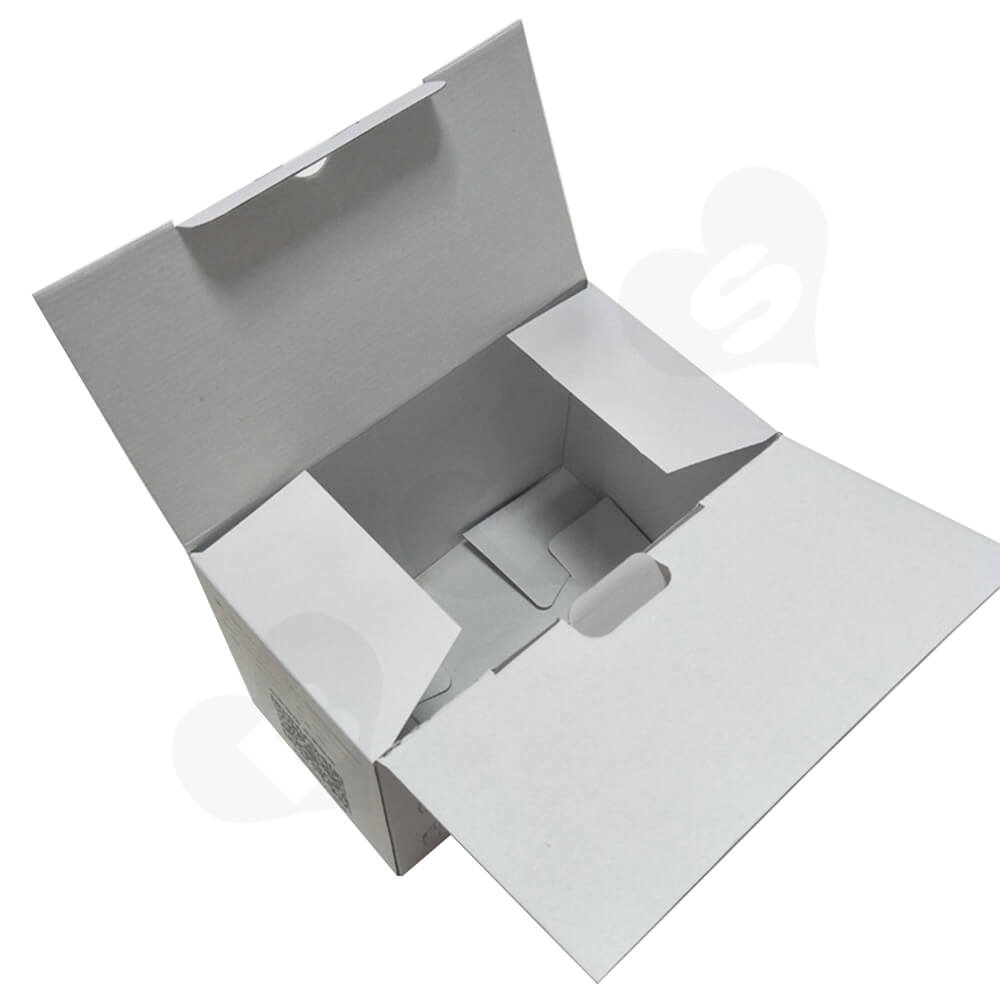 White Cardboard Box With Printing For VR Goggle Side View Four