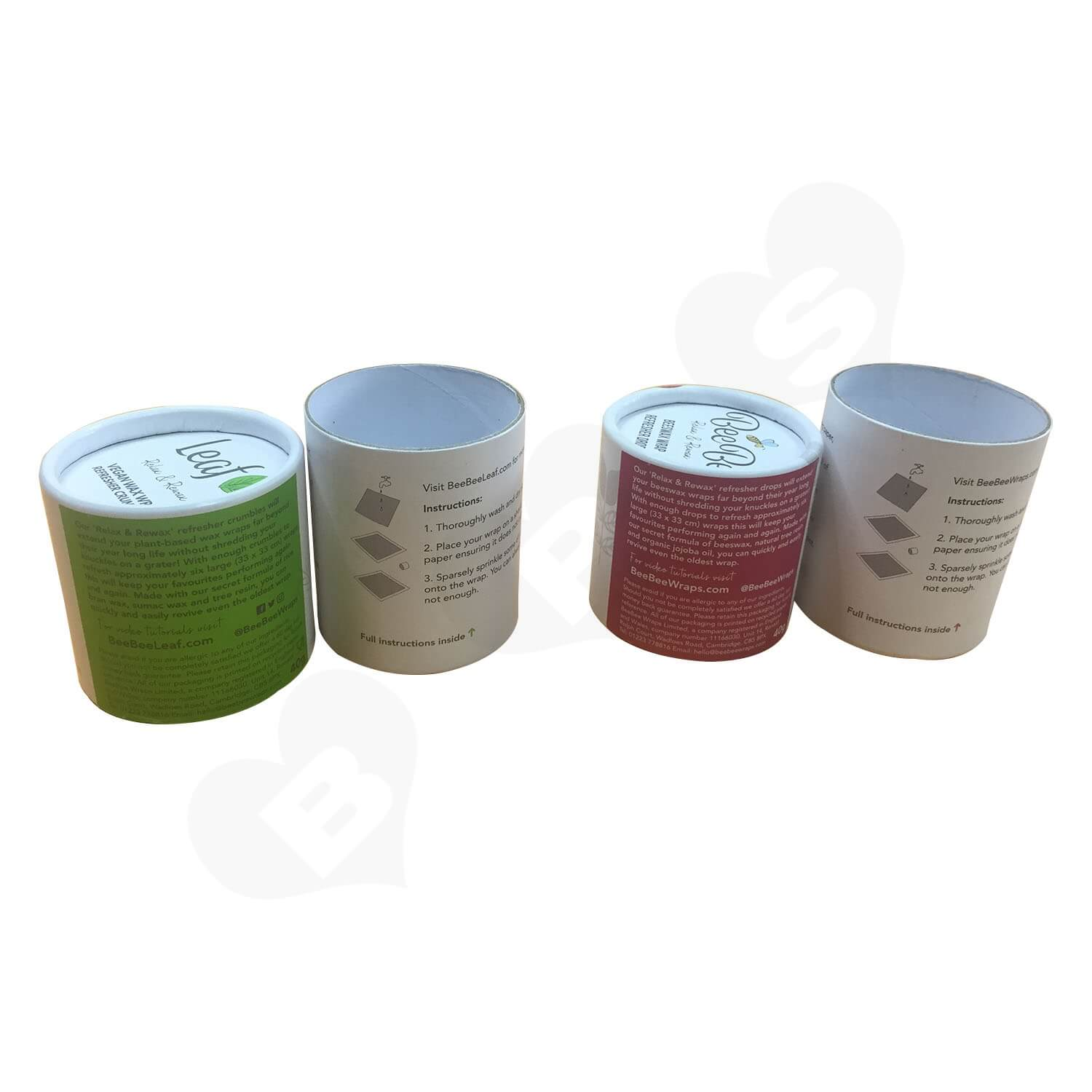 100 Recyled Two Piece Lift off lid Printed Tube Side View 1