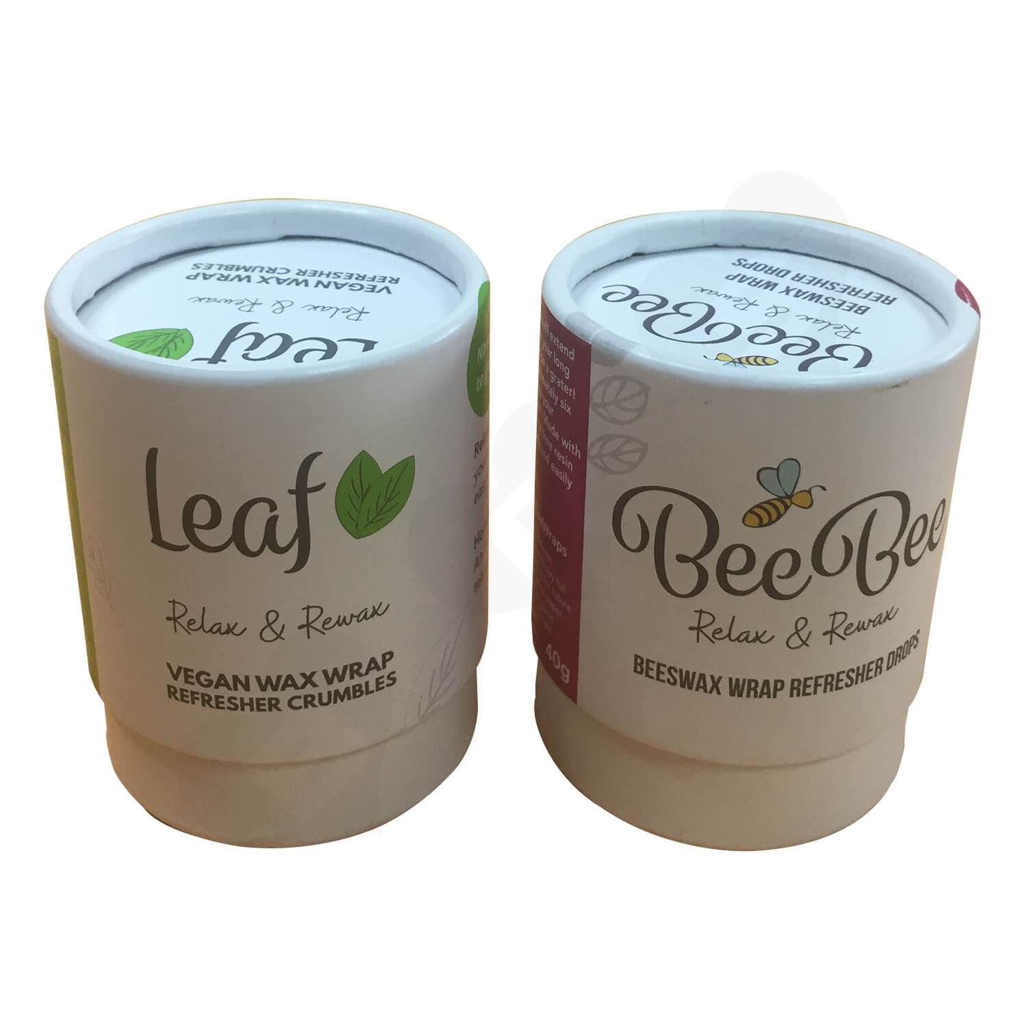 100 Recyled Two Piece Lift off lid Printed Tube Side View 4