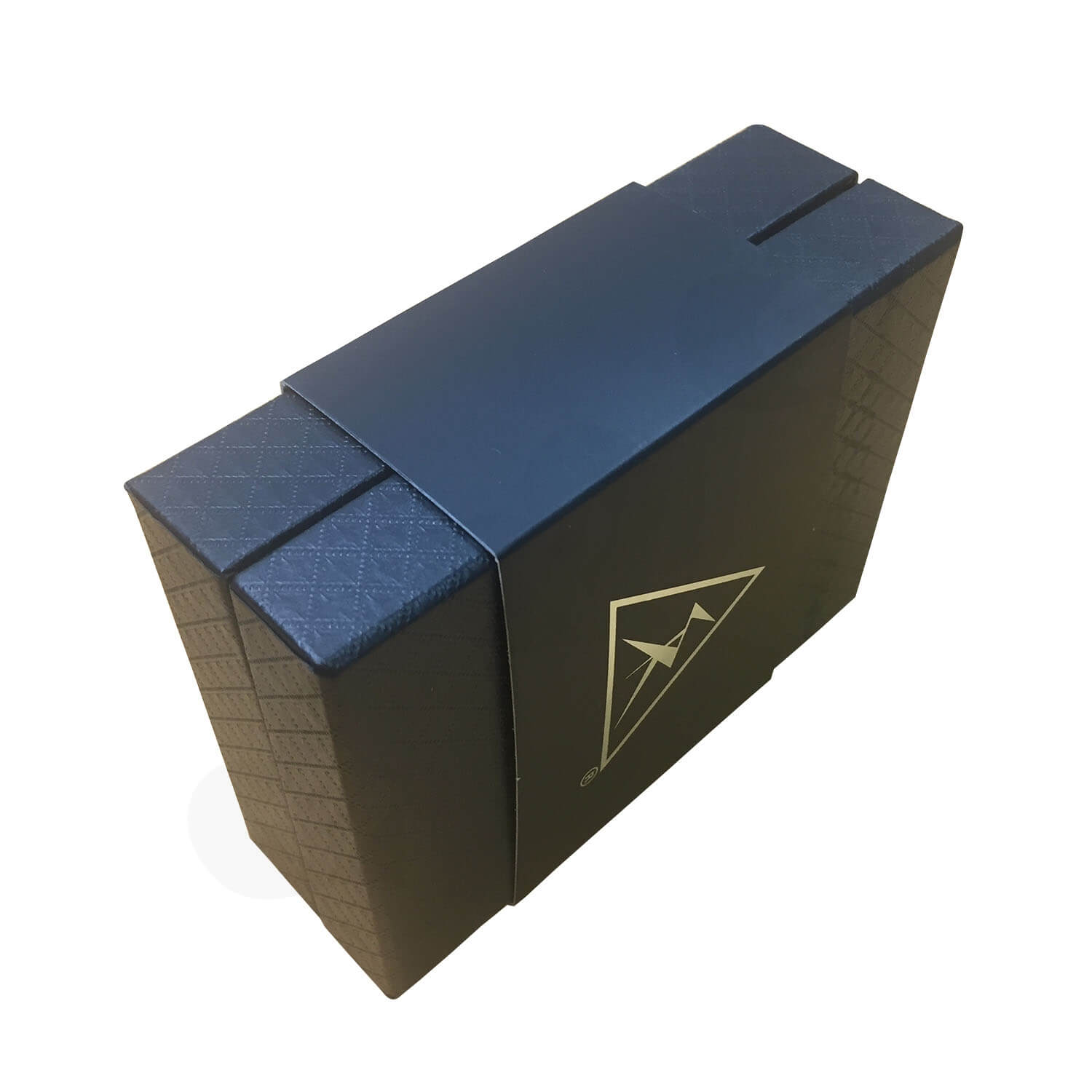 Black Texture Raphe Rigid Box With Paper Sleeve Side View 5