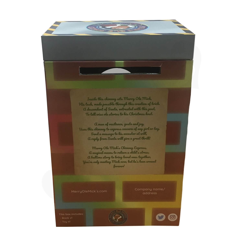 Custom Novelty Toy Christmas Gift Rigid Box Side View 2