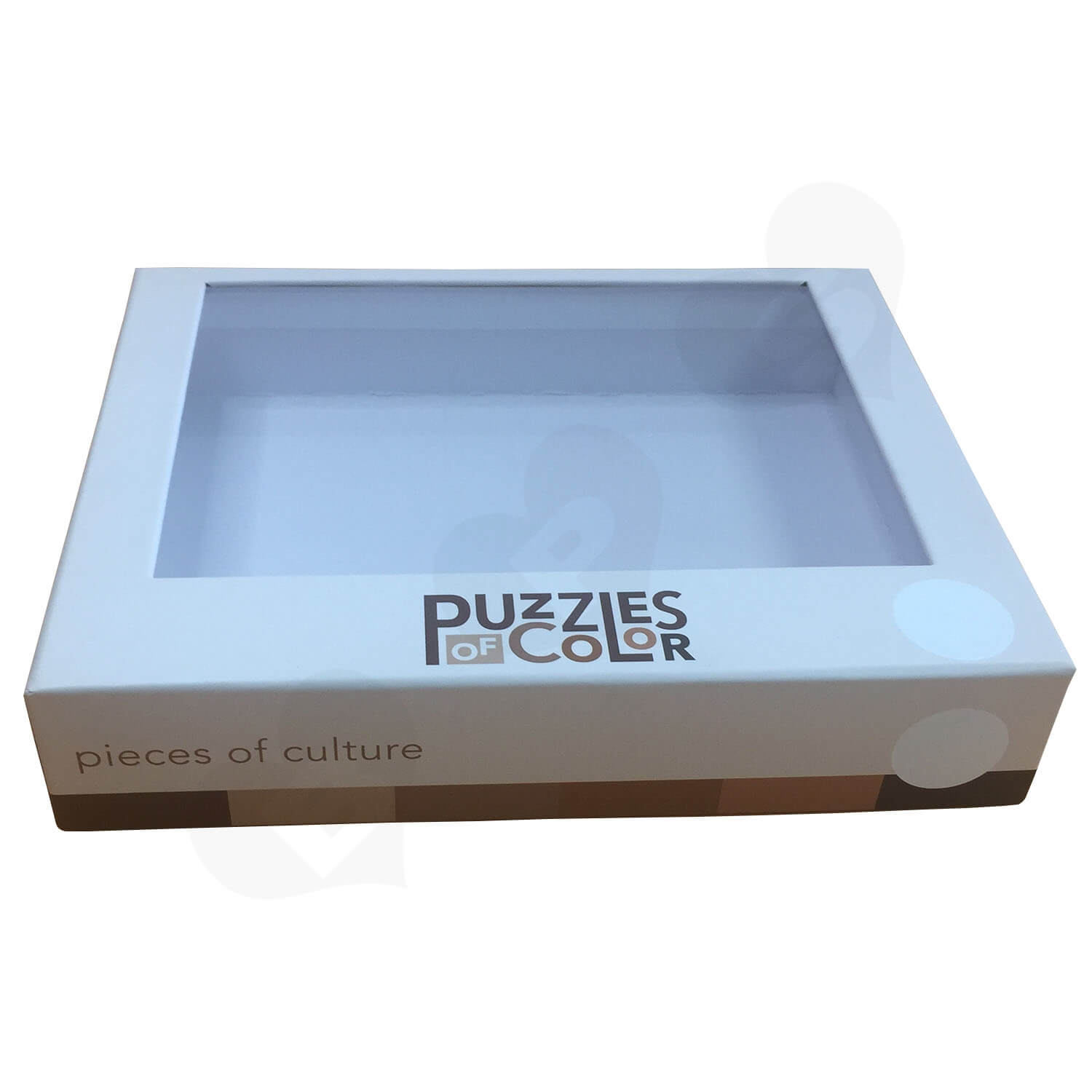 Custom Printed Lift off Lid Puzzle Boxes With PVC Window Side View 6