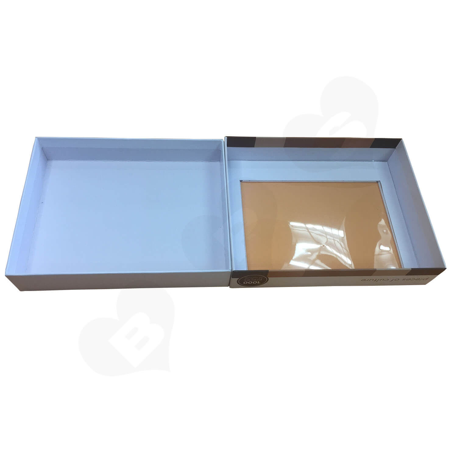 Custom Printed Lift off Lid Puzzle Boxes With PVC Window