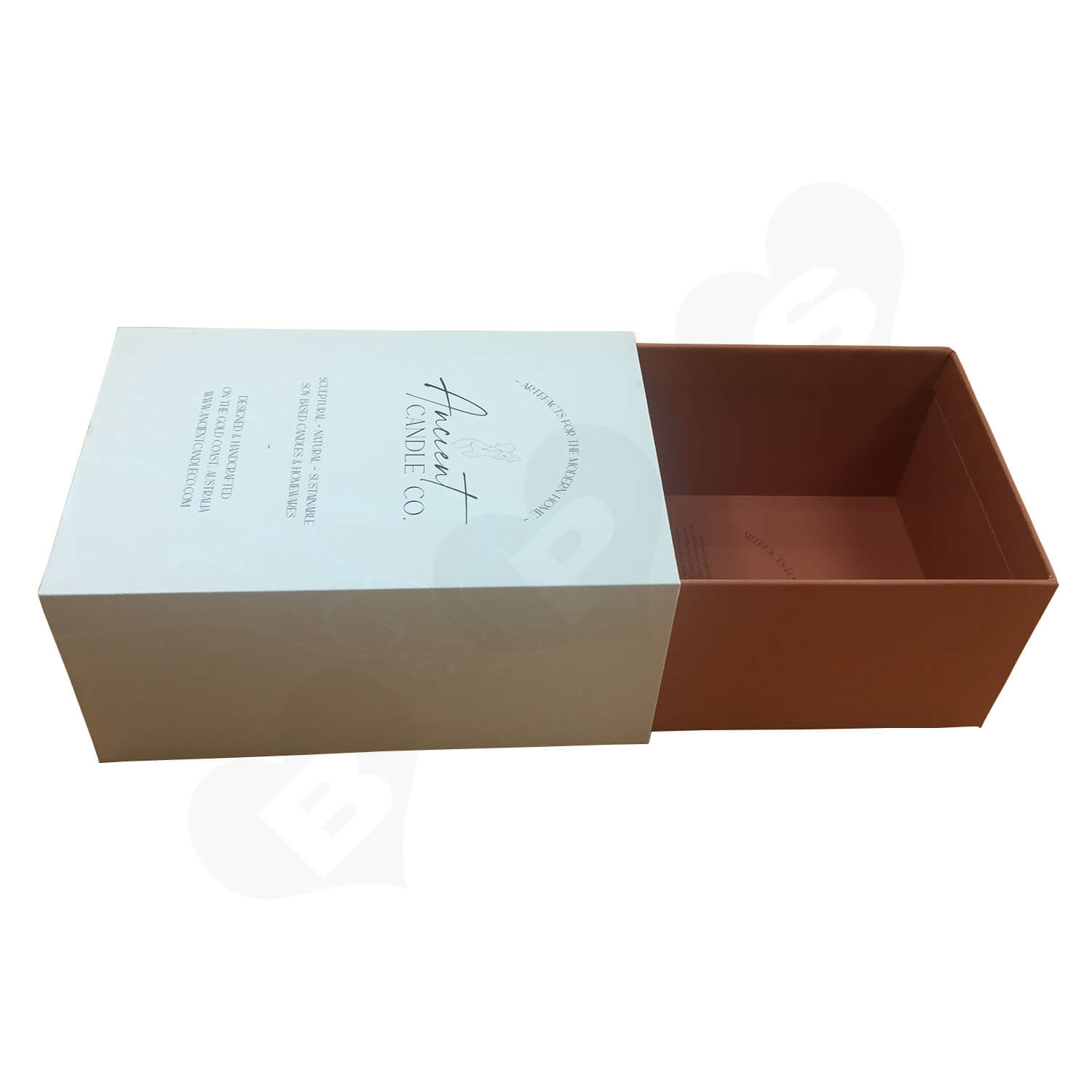 Custom Rigid Slide Drawer Box For Sculptural Candles Side View 5