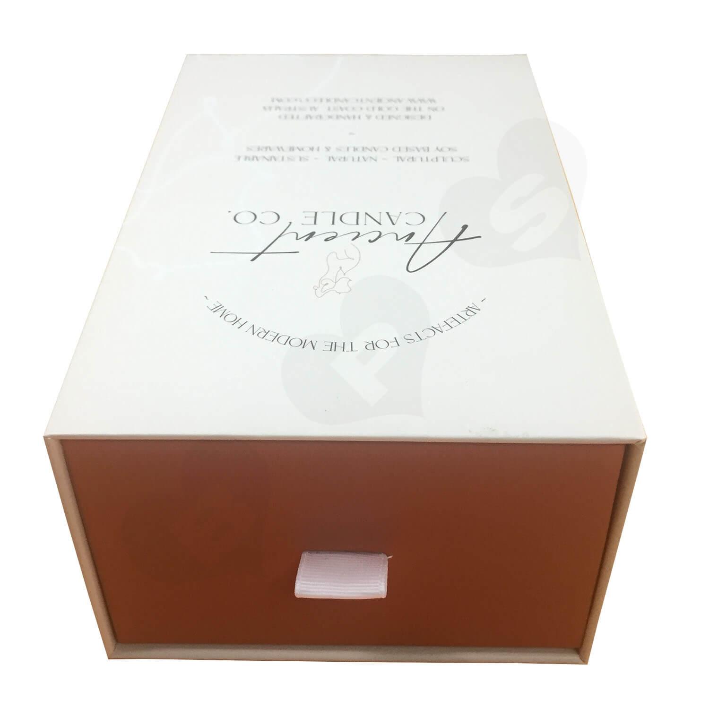 Custom Rigid Slide Drawer Box For Sculptural Candles