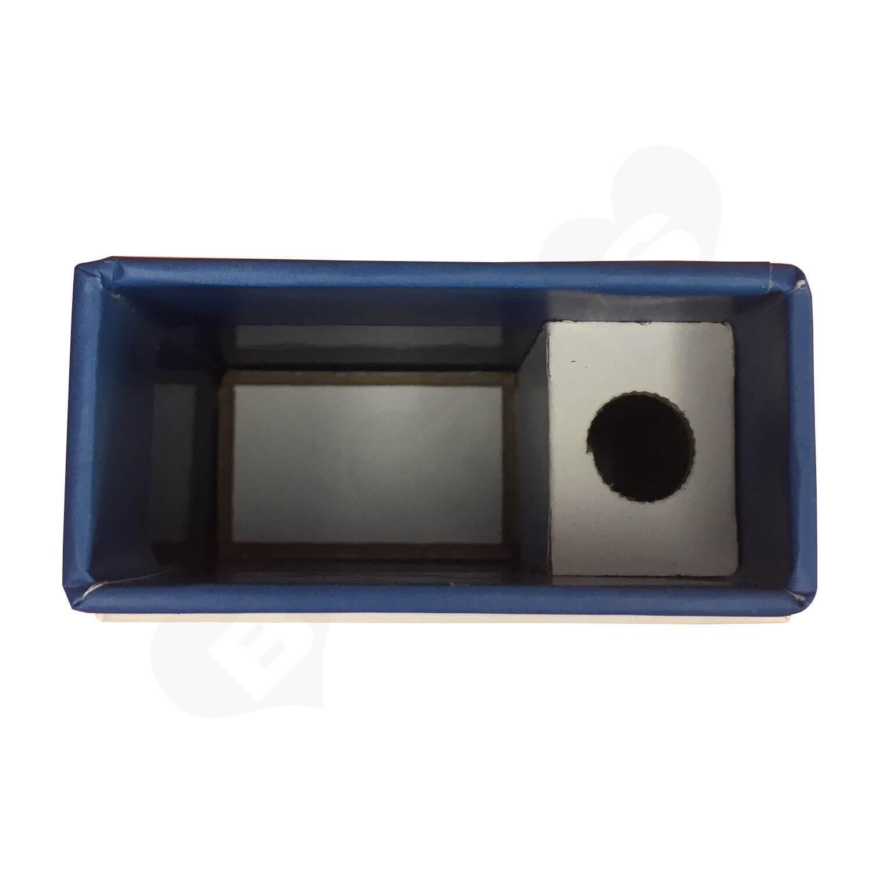 Custom Three Piece Hinged Neck Rigid Box For CBD Side View 2
