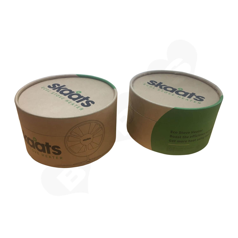 ECO Fan Custom Kraft Tube With Die Cut Foam Insert Side View 2