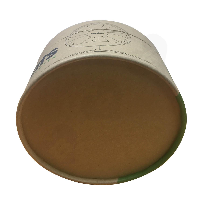 ECO Fan Custom Kraft Tube With Die Cut Foam Insert Side View 3