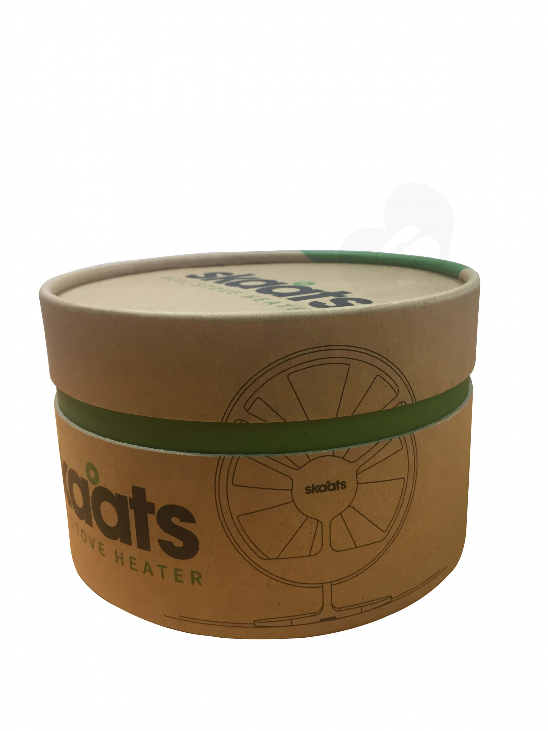 ECO Fan Custom Kraft Tube With Die Cut Foam Insert Side View 4