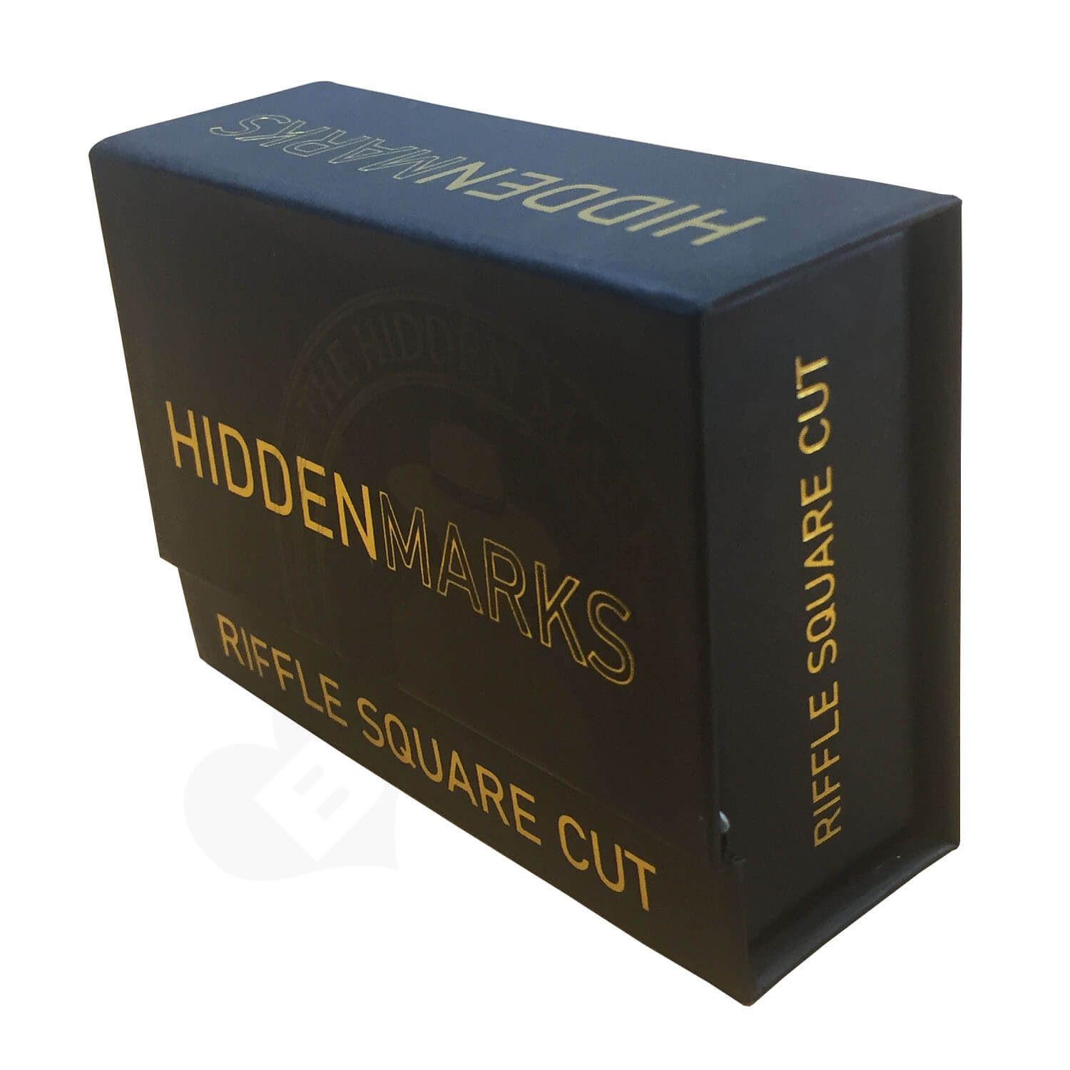 Hinged Magnetic Closure Lid Box with v shaped cut interior Side View 2