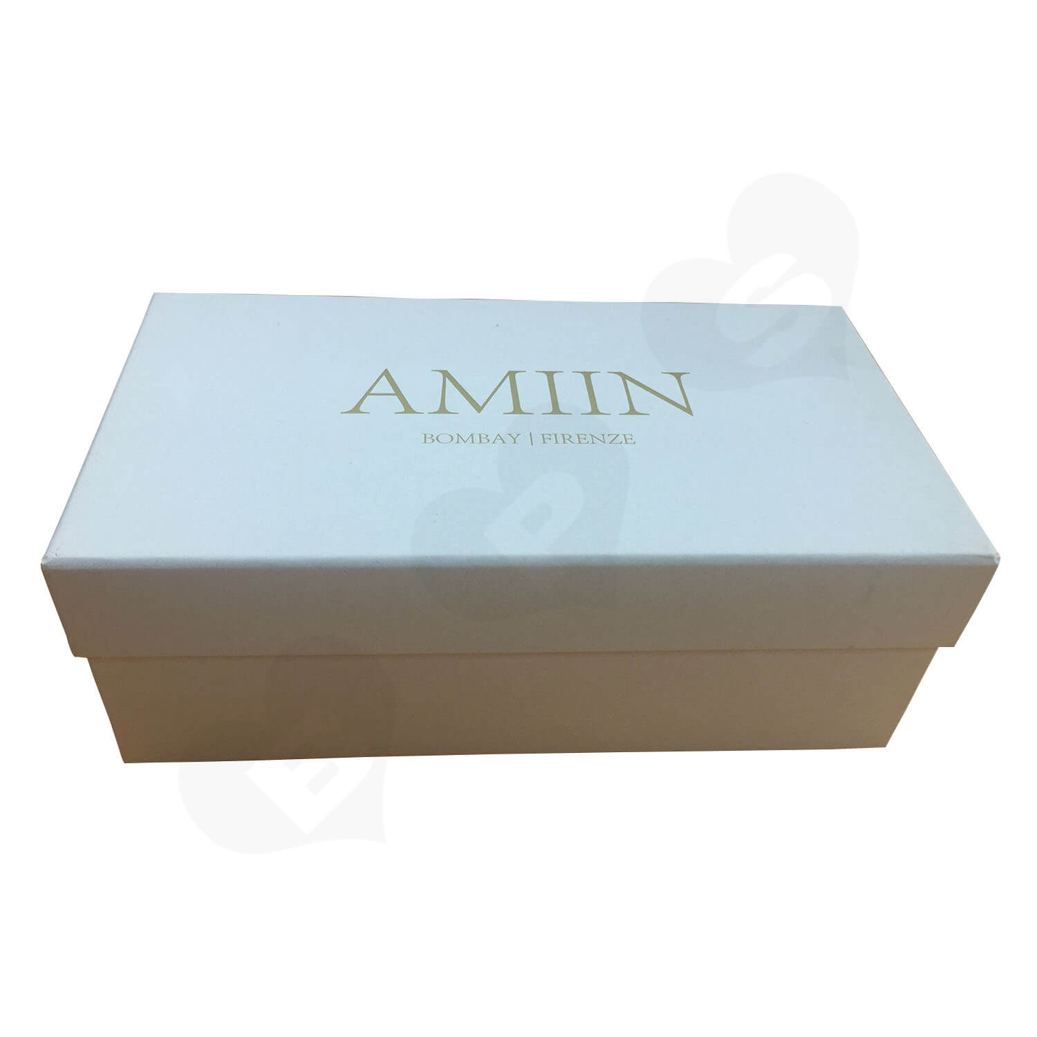 Specialty Paper Gold Foil Logo Stamped Shoe box Side View 4
