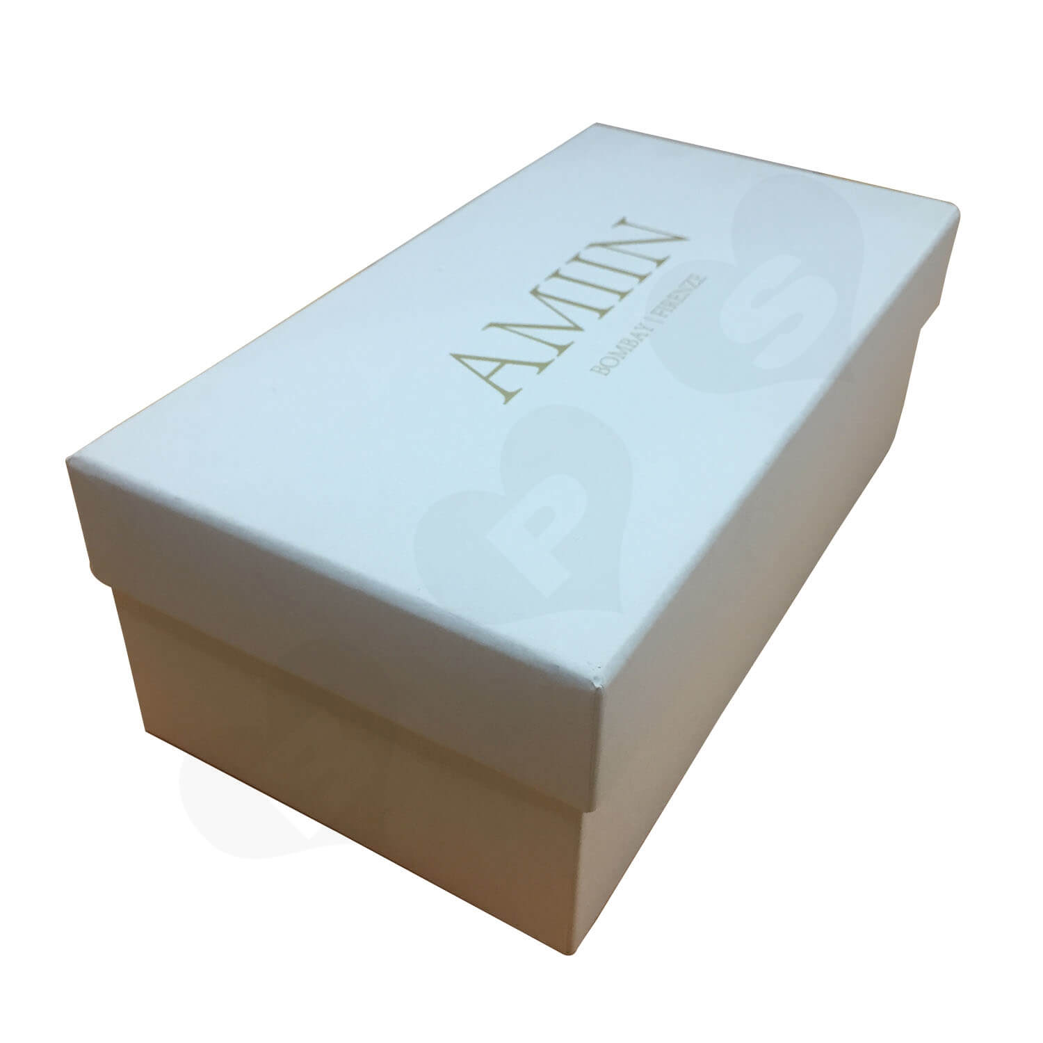 Specialty Paper Gold Foil Logo Stamped Shoe box